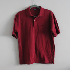 Men's Burberry London Red Polo